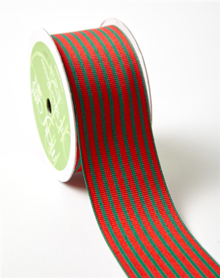 Ribbon - Red/Green Stripe