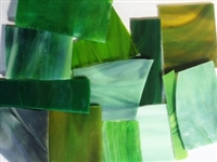 Assorted Green Stained Glass
