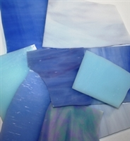 Assorted Light Blue Stained Glass
