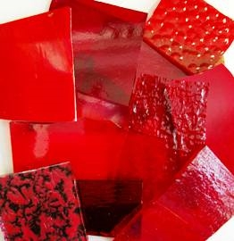 Assorted Red Stained Glass