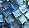 Crystal Metallic Tiles..Blue..3/8""