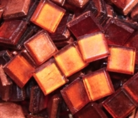 Crystal Metallic Tiles..Orange..3/8""