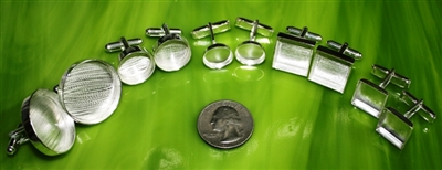 Deep Well Silver Cuff Links