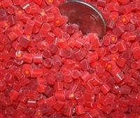 Flower..Assorted Transparent Reds..3-4mm NEW!