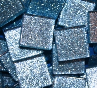 "Glitter Tiles..3/4""..Light Blue"