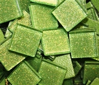"Glitter Tiles..3/4""..Light Lime"