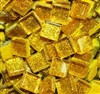 "Glitter Tiles..3/8""..Bright Gold Confetti"