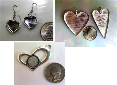 Heart Shaped Jewelry Blanks