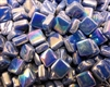 Tie Dye Tiles..Iridescent Dark Blue