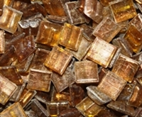 Metallic Mini Tiles..Amber..3/8""