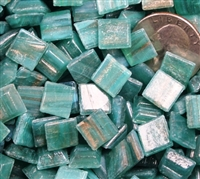 Metallic Mini Tiles..Aqua..3/8""