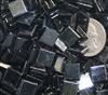 Metallic Mini Tiles..Black..3/8""