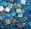 Metallic Mini Tiles..Cerulean..3/8""