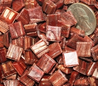 Metallic Mini Tiles..Cinnamon..3/8""