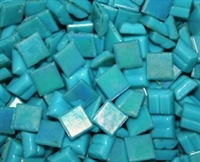 Metallic Mini Tiles..Cyan..3/8""