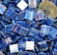 Metallic Mini Tiles..Dark Blue..3/8""