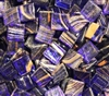 Metallic Mini Tiles..Dark Blue-Gold..3/8""