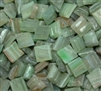Metallic Mini Tiles..Light Green..3/8""
