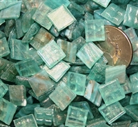 Metallic Mini Tiles..Light Aqua..3/8""