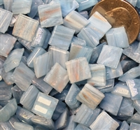 Metallic Mini Tiles..Light Blue..3/8""