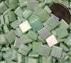 Metallic Mini Tiles..Mint..3/8""