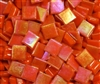 Metallic Mini Tiles..Orange..3/8""