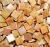 Metallic Mini Tiles..Peach..3/8""