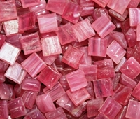 Metallic Mini Tiles..Pink..3/8""