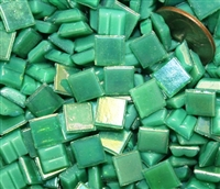 Metallic Mini Tiles..Spring Green..3/8""
