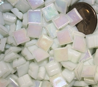 Metallic Mini Tiles..White..3/8""