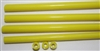 Rods..43-Hollow Opaque Lemon..7-8mm