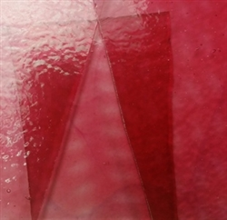 Transparent Pink-Cranberry Stained Glass
