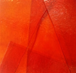 Transparent Red-Orange Stained Glass
