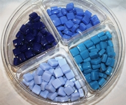 "1/2"" Tie Dye Tile Set..Blues"