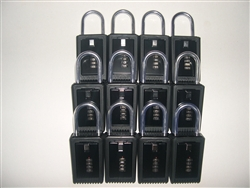 12 Lock Boxes Realtor Real Estate Key 4 number digit dials door lockboxes handle