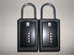 2 Lock Boxes Realtor Real Estate Key 4 number digit dials door lockboxes handle