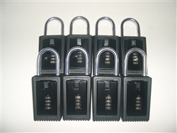 8 Lock Boxes Realtor Real Estate Key 4 number digit dials door lockboxes handle
