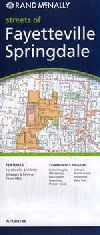 City Map of Fayetteville and Springdale, Arkansas