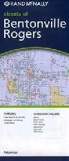 City Map of Rogers and Bentonville, Arkansas by Ra