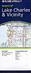 City Map of Lake Charles, Louisiana by Rand McNall