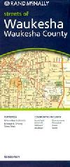 County Map of Waukesha County, Wisconsin by Rand M