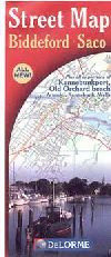 City Map of Biddeford, Maine and Saco, Maine by De