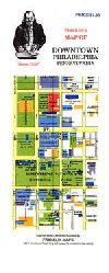 City Map of Downtown Philadelphia, Pennsylvania by