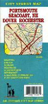 City Map of Portsmouth and Dover, New Hampshire by