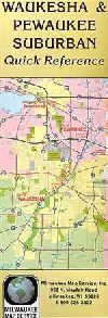 City Map of Waukesha, Wisconsin by Milwaukee Map S