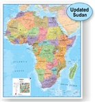 Africa, Political, laminated by Maps International Ltd.