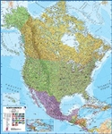 North America, Political, laminated by Maps International Ltd.