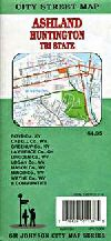 City Map of Huntington, West Virginia and Ashland,