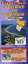 City Map of Myrtle Beach, South Carolina including