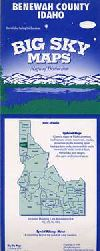 County Map of Benewah County, Idaho by Big Sky Map